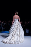 A model walks the runway during fashion show 14th Expo Wedding. Stock Image