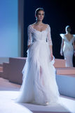A model walks the runway during fashion show 14th Expo Wedding. Royalty Free Stock Images