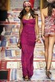 A model walks the runway during the Fisico Christina Ferrari show Stock Image