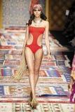 A model walks the runway during the Fisico Christina Ferrari show Royalty Free Stock Photos