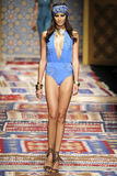 A model walks the runway during the Fisico Christina Ferrari show Royalty Free Stock Photography