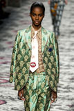 A model walks the runway during the Gucci show stock image