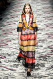 A model walks the runway during the Gucci show Stock Photo