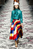 A model walks the runway during the Gucci show Royalty Free Stock Photo