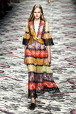 A model walks the runway during the Gucci show Royalty Free Stock Image