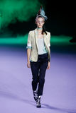 A model walks the runway during the Haider Ackermann show Stock Image