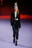 A model walks the runway during the Haider Ackermann show Stock Photo