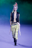 A model walks the runway during the Haider Ackermann show Stock Photography