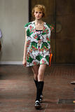 A model walks the runway during the I'M Isola Marras show as part of Milan Fashion Week Stock Photography