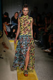 A model walks the runway during the IM Isola Marras show Stock Photography