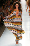 A model walks runway at the Indah fashion show during MBFW Swim 2015 Stock Image