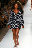 A model walks runway at the Indah fashion show during MBFW Swim 2015 Royalty Free Stock Photography