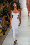 A model walks runway at the Indah fashion show during MBFW Swim 2015 Royalty Free Stock Photos
