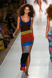 A model walks runway at the Indah fashion show during MBFW Swim 2015. MIAMI, FL - JULY 21: A model walks runway at the Indah fashion show during MBFW Swim 2015 Stock Images