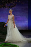 A model walks the runway at the Ines Di Santo Bridal Spring/Summer 2016 Runway Show Stock Photography