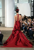 A model walks the runway during the Ines di Santo Spring/Summer 2018 bridal fashion show royalty free stock photos