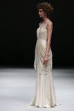 A model walks runway at Ivy and Aster fashion show during Fall 2015 Bridal Collection Royalty Free Stock Photography