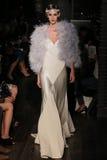 A model walks runway at Johanna Johnson runway Show during Fall 2015 Bridal Collection Royalty Free Stock Photo