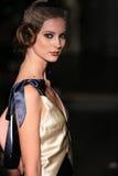 A model walks runway at Johanna Johnson runway Show during Fall 2015 Bridal Collection Royalty Free Stock Photos