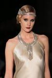 A model walks runway at Johanna Johnson runway Show during Fall 2015 Bridal Collection Stock Photo