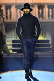 A model walks the runway at the Joseph Abboud NYFW Stock Images