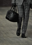 A model walks the runway at the Joseph Abboud Runway Show Stock Photos