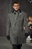 A model walks the runway at the Joseph Abboud Runway Show Royalty Free Stock Photography