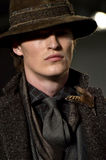A model walks the runway at the Joseph Abboud Runway Show Stock Images