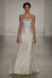 A model walks runway at Kelly Faetanini runway Show during Fall 2015 Bridal Collection Stock Images