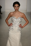 A model walks runway at Kelly Faetanini runway Show during Fall 2015 Bridal Collection Stock Photography