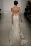 A model walks runway at Kelly Faetanini runway Show during Fall 2015 Bridal Collection Royalty Free Stock Photos