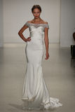 A model walks runway at Kelly Faetanini runway Show during Fall 2015 Bridal Collection Royalty Free Stock Image