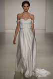 A model walks runway at Kelly Faetanini runway Show during Fall 2015 Bridal Collection Royalty Free Stock Photo
