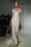 A model walks runway at Kelly Faetanini runway Show during Fall 2015 Bridal Collection Stock Photos