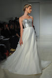 A model walks runway at Kelly Faetanini runway Show during Fall 2015 Bridal Collection Royalty Free Stock Photography