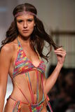Model walks the runway at the Lainy Gold Swimwear fashion show Stock Photos