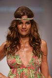 Model walks the runway at the Lainy Gold Swimwear fashion show Stock Photography