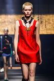 A model walks the runway during the Lanvin show Royalty Free Stock Photography