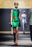 A model walks the runway during the Lanvin show Royalty Free Stock Images