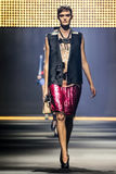 A model walks the runway during the Lanvin show Royalty Free Stock Photos
