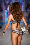 A model walks the runway at the Maaji Swimwear fashion show during MBFW Swim 2015 Royalty Free Stock Photos