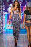 A model walks the runway at the Maaji Swimwear fashion show during MBFW Swim 2015 Royalty Free Stock Images