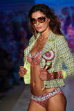 A model walks the runway at the Maaji Swimwear fashion show during MBFW Swim 2015 Stock Image