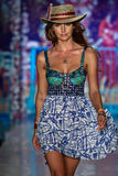 A model walks the runway at the Maaji Swimwear fashion show during MBFW Swim 2015 Stock Photo