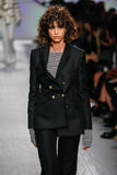 A model walks the runway during the Max Mara show Royalty Free Stock Images