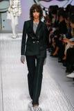 A model walks the runway during the Max Mara show Royalty Free Stock Photos