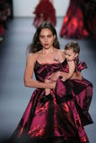 A model walks the runway at the Michael Costello fashion show Stock Photo