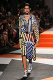A model walks the runway during the Missoni show Stock Image