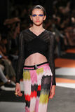 A model walks the runway during the Missoni show Royalty Free Stock Images