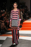 A model walks the runway during the Missoni show Stock Photo